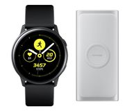 SAMSUNG Galaxy Watch Active & Wireless Power Bank Bundle - Black