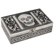 Aluminium Jewellery Box, SKULL