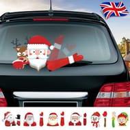 Santa Claus Christmas Car Window Sticker