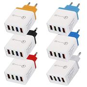 4 USB Port Colorful Charger 3A Travel Charging Head