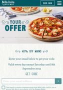 Bella Italia 40% off Mains