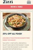 Zizzi - 25% off All Food