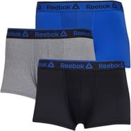 Reebok Mens Pack Short Trunks Black/Grey Marl/Crushed Cobalt