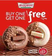 TODAY ONLY BOGOF New Krispy Kreme KitKat Donuts