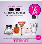 Members Only- Buy One Get Second Half Price on Selected Fragrance at Superdrug