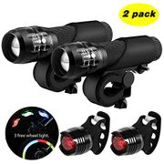 Bike Light Set LED Bicycle Light with Zoomable Function 3 Modes