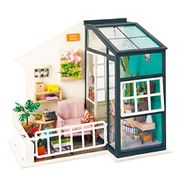 Robotime Doll House Furniture Miniature Building + Free Peg Puzzle for £7.5