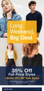 GAP - 35% off Full-Price Styles + Extra 15% off Sales Styles