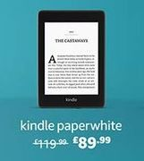 "£30 off Kindle Paperwhite | Waterproof, 6"" High-Resolution Display, 8GB"