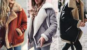 Cheap Women's Shearling-Style Faux Fur Winter Jacket, reduced by £40!