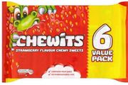 6 Pack Strawberry Chewits