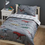 Dinosaur Single Duvet Cover and Pillowcase Set