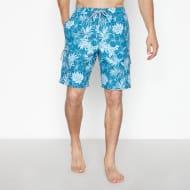 Ark Turquoise Hibiscus Print Swim Shorts
