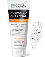 Face Scrub, Premium Exfoliating Charcoal Face Scrub 75ml by PROCOAL