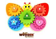 The Wooden Toy Factory - Butterfly Gear Game - Educational Toddler Toy