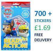 700+ STICKERS! PAW PATROL Ready for Action Stickers Book + FREE DELIVERY