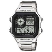 Casio Digital LCD Watch with World Time, 5x Alarms, Timer and Stopwatch, 100M WR