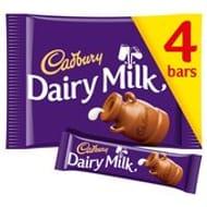 Cadbury Dairy Milk Chocolate Bar 4 Pack 4 X 36g