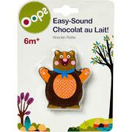Oops Brown Wooden Bear Rattle