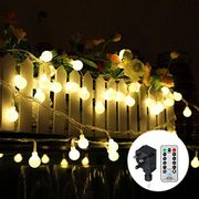 Outdoor Festoon Lights Globe String Lights Mains Powered 100LED 43FT