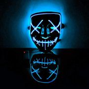 Aimado Halloween LED Masks Light up Mask Terrible Costume for Halloween
