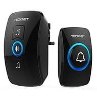 TeckNet Wireless Doorbell, Wall Plug-in Cordless Door Chime