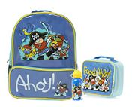 Bugzz Kids Stuff Children's School Bag Set - Backpack - Lunch Bag and
