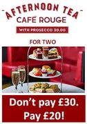 BARGAIN PRICE Afternoon Tea for Two with Prosecco - JUST £10 EACH!