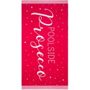 Printed Alcohol Beach Towel - Prosecco