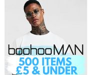 DEAL STACK - BoohooMAN 500 Items £5 & Under + £1 Delivery Code
