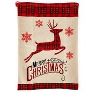 Reindeer Hessian Christmas Sack