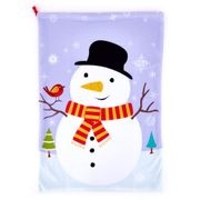 Purple Snowman Present Sack Only £1.49