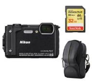 NIKON COOLPIX Tough Compact Camera, Case & 32 GB Memory Card Bundle