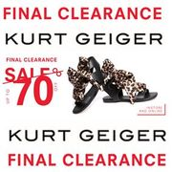 FINAL CLEARANCE at Kurt Geiger SHOE BARGAINS!