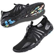 Hiitave Men Women's Quick Dry Barefoot Water Shoes Slip on Beach Sport
