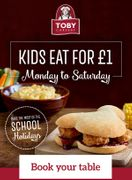 Toby Carvery Kids Eat for £1