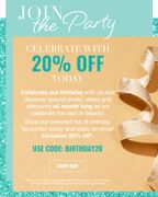 Lookfantastic - Join the Party! Celebrate with 20% off Today