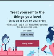 Up to 50% off Items at Wish