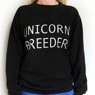 Unicorn Breeder' Slogan Sweatshirt