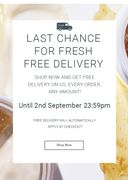 Last Chance for Free Delivery!