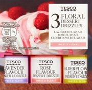 Tesco Floral Dessert Drizzles 3 X 38ml *Choice of Two