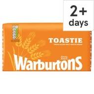 Warburtons Toastie/Medium Sliced White Bread 800G