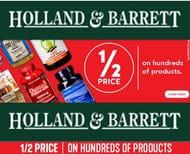 1/2 PRICE SALE at Holland & Barrett