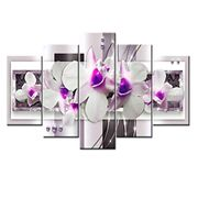 5Pcs Set Wall Art Painting, Modern Frameless Canvas Painting. 70% off Amazon