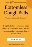 Bottomless Dough Balls at Pizza Express When You Buy a Bottle of Prosecco