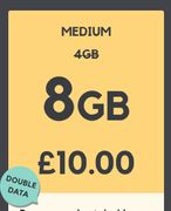 Smarty Sim - £10/m No Contract - 8gb/Unlimited Calls + Texts