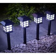 Oriental Solar Garden Lights - 4 Pack