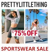 ACTIVEWEAR / SPORTSWEAR SALE at Pretty Little Thing - up to 75% OFF