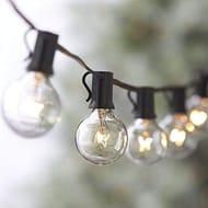 Globe Festoon String Light Bulb 27Ft G40 Indoor outside Waterproof Lixada