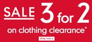 Mother Care Clothing Sale + 3 for 2